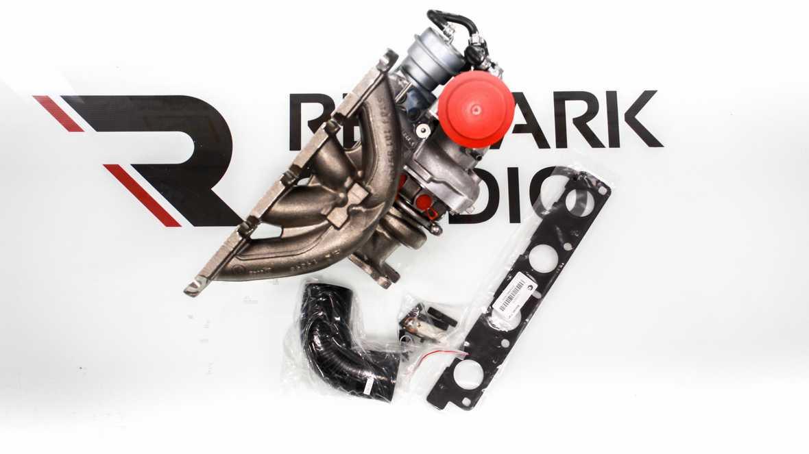 На фото турбина Borg Warner K04 и комплектующие для ее установки на VW Golf6, VW Tiguan mk1, SEAT Leon mk2, Skoda Octavia mk2, Skoda Yeti