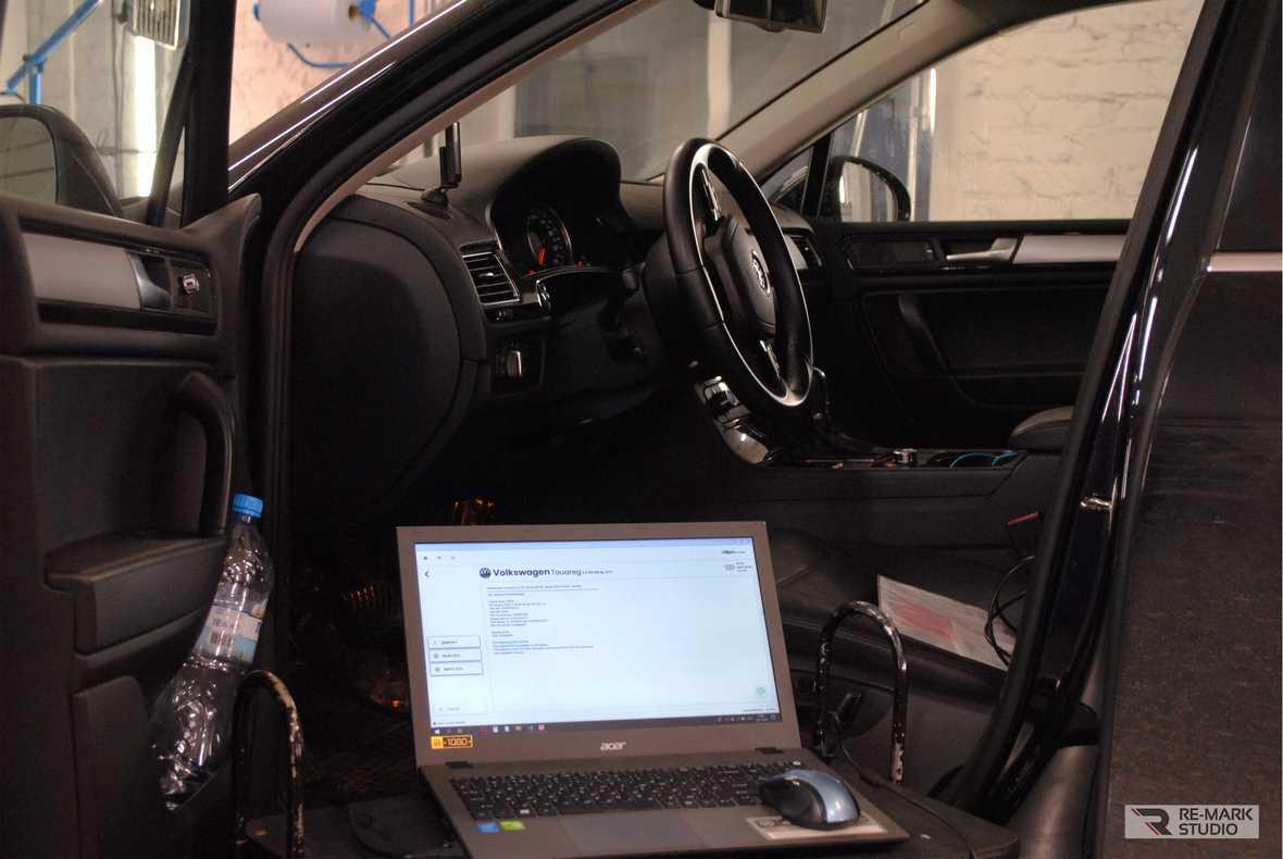 Как прошить мозги Туарегу 3.0 TDI? Смотреть фото рабочего процесса.