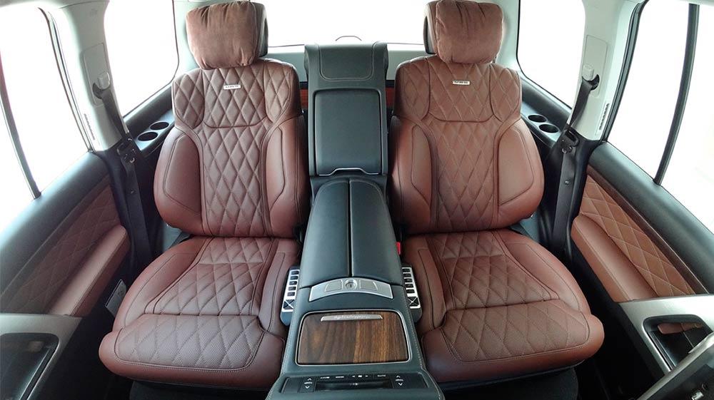 Смотреть фото кожаного автомобильного дивана заднего ряда MBS Autobiography.