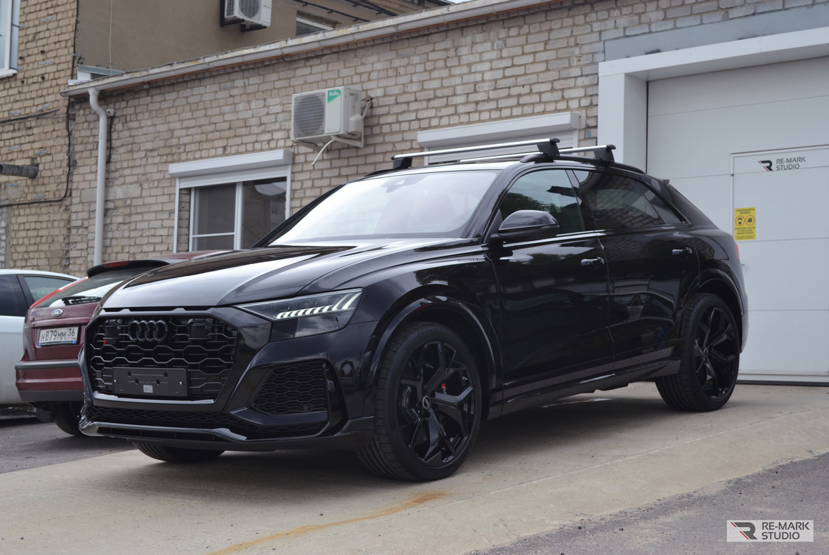 Фото из отчета детейлинга «RE-MARK STUDIO» о бронировании Audi RS Q8. Проект 2021 года.